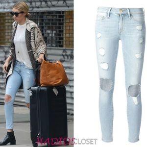 Frame Denim light skinny jeans